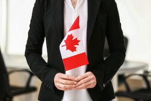 immigration application lawyer with canadian flag